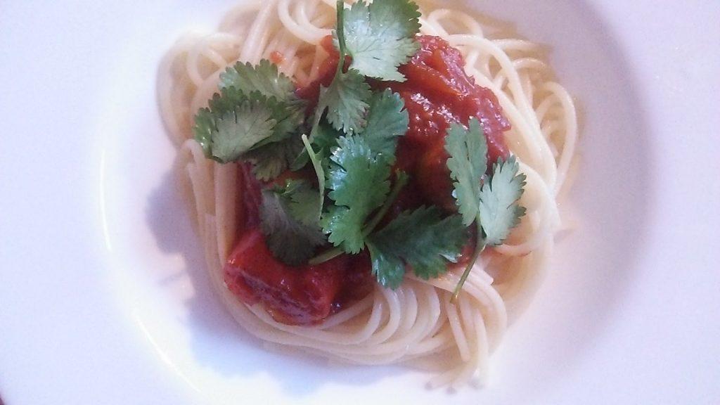 スパゲティを作ってみた。